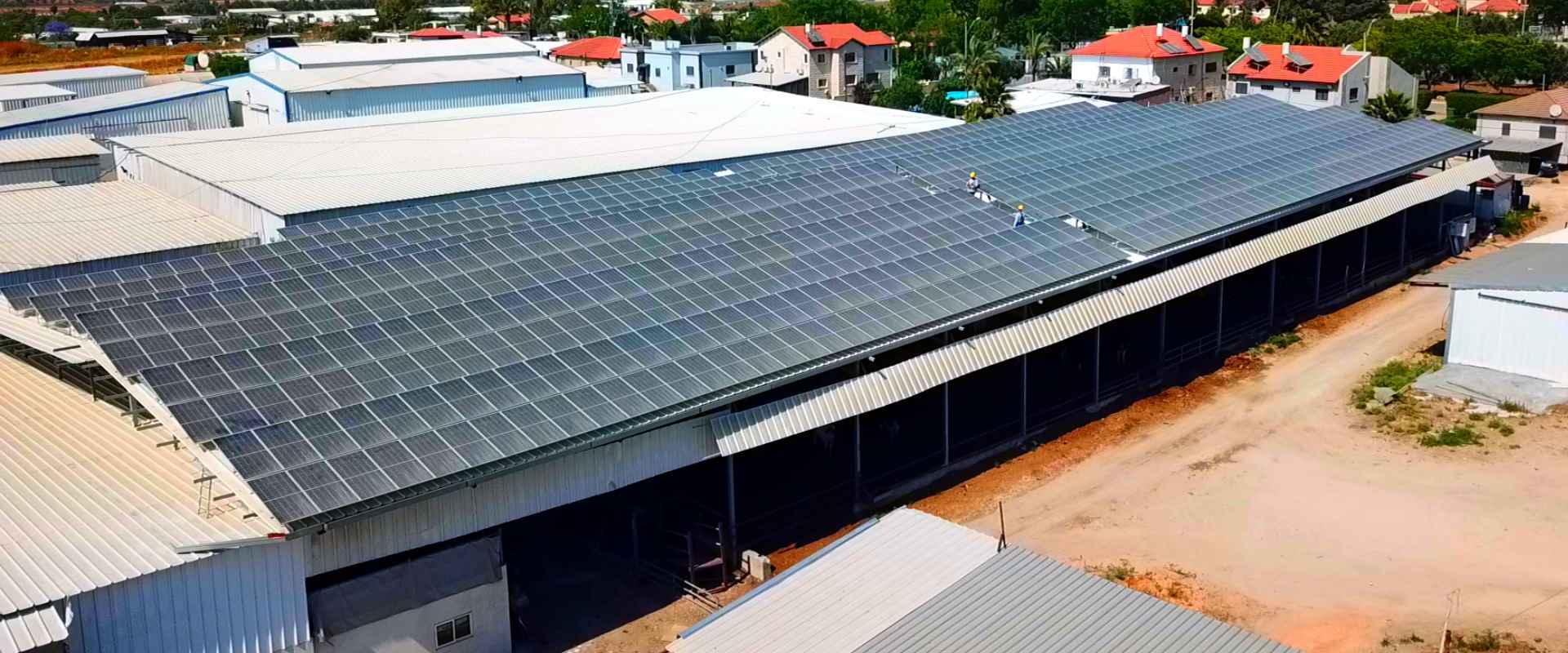 מערכת אנרגיה סולארית חקלאית במושבים במרכז
